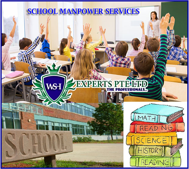 Manpower services to colleges, Manpower services to Universities, Manpower services to MOE schools, Manpower services to Education institutions, Manpower services in Singapore, School manpower services